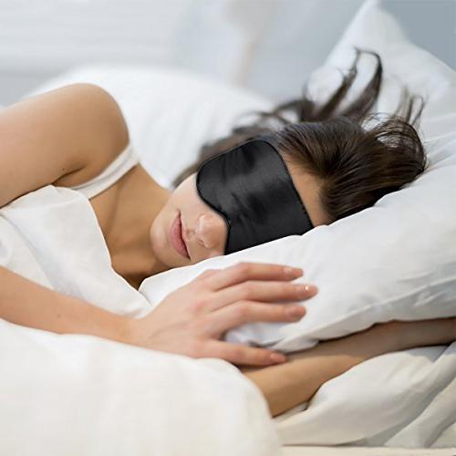 Sleep ZGGCD Sleep Mask for 2 100% Natural Eye Cover, Smooth with Adjustable for Men, Travel, & Blue