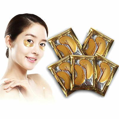 100 24k Gold Eye Collagen Aging Wrinkle Gel Anti Mask US Seller