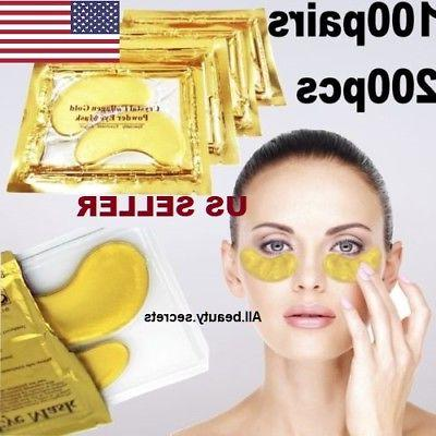 100 pairs 24k gold eye collagen aging