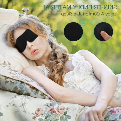 2x 3D Eye Mask Sleep Soft Blindfold Unisex