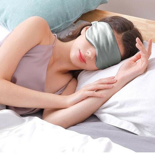 100% Silk Padded Shade Sleeping Aid Blindfold For A Night's Sleep