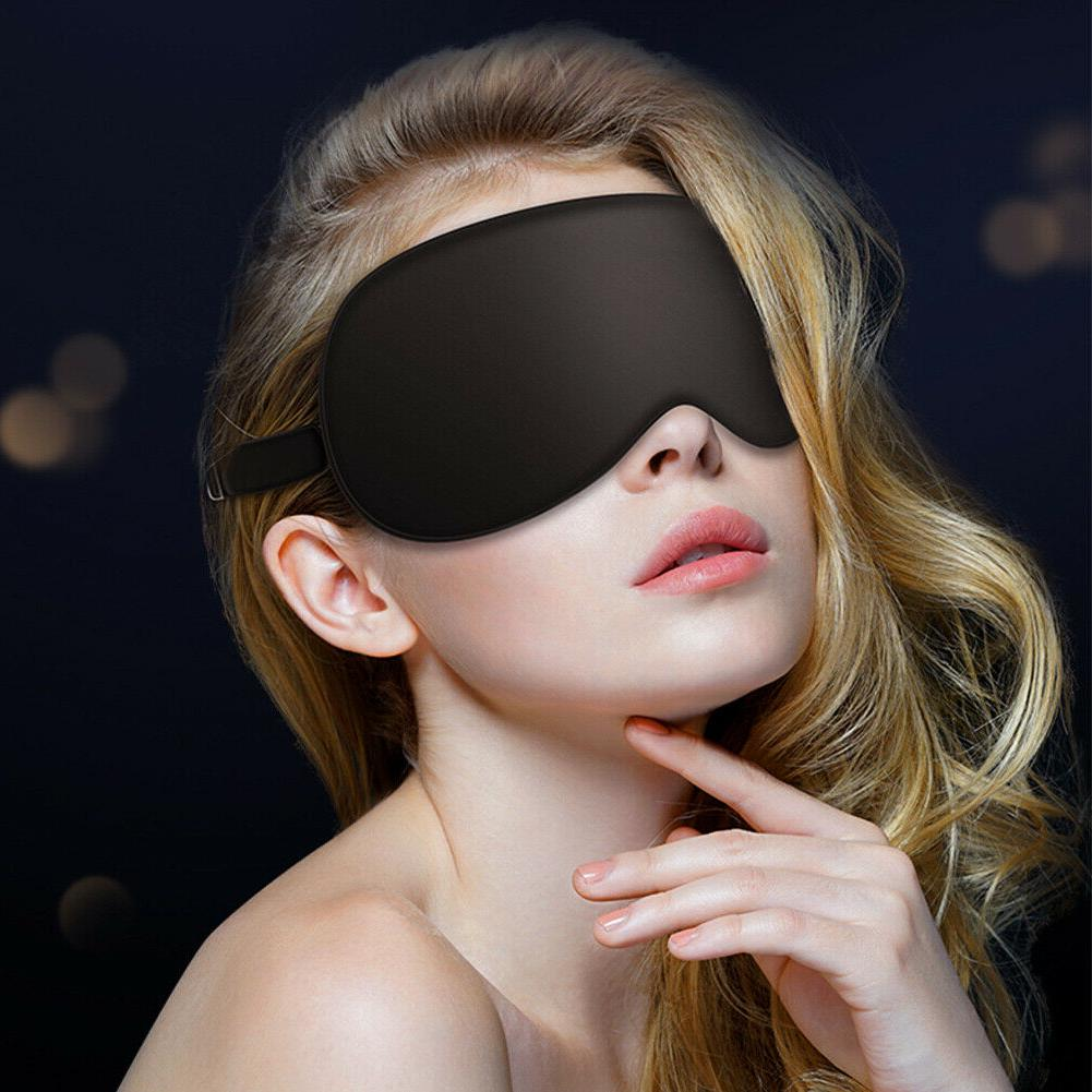 100% Mulberry Silk Eye Cover Travel Relax Blindfold