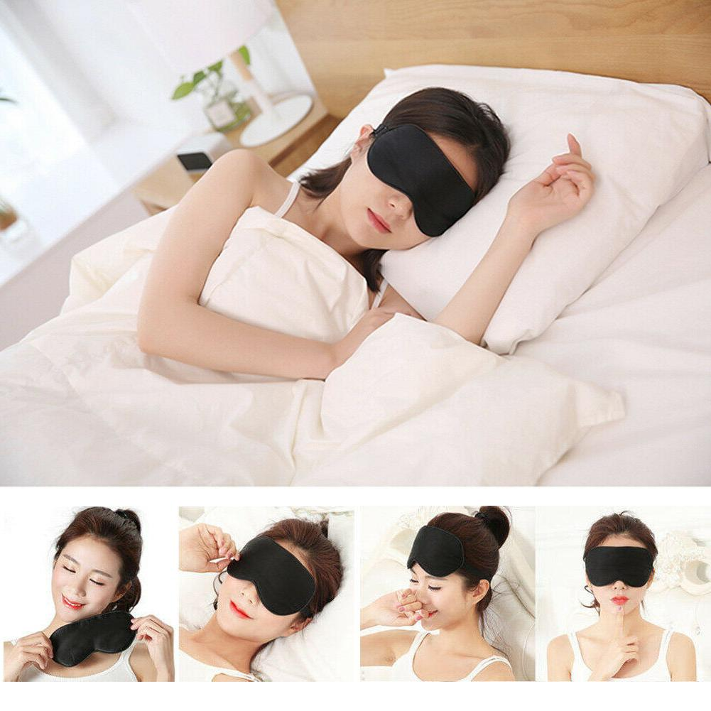 100% Mulberry Eye Padded Shade Cover Travel Blindfold