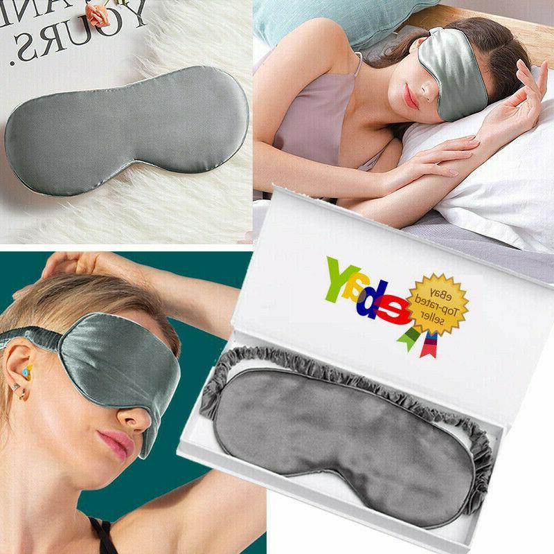 100 percent silk eye mask padded shade