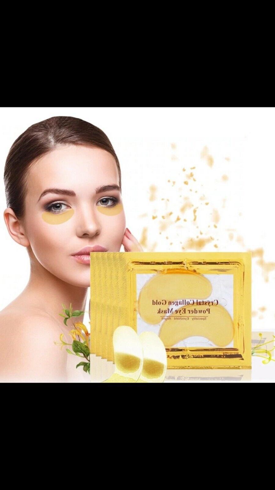 10pc Collagen Gold Powder Eye Mask + 10pc Collagen