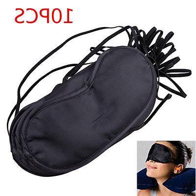 10pc set unisex black eye mask shade