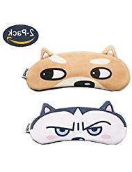 MicroBird Dog Cute Sleep Eye Night Mask with gel pad, Hot &