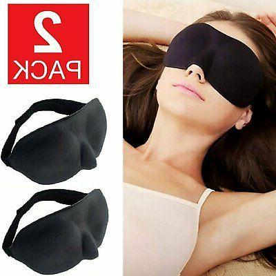 2 pack travel 3d eye mask sleep