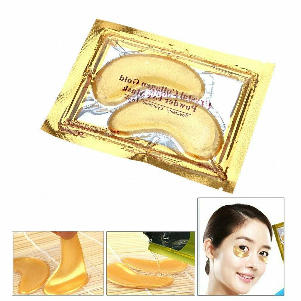 20 Pairs Under Eye Mask Gold Collagen Eye Patch Anti Wrinkle Dark Circle Gel