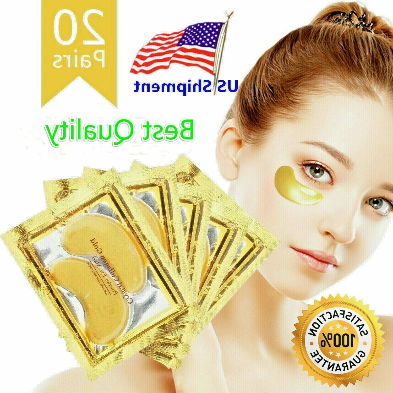 20 pairs under eye mask gold collagen