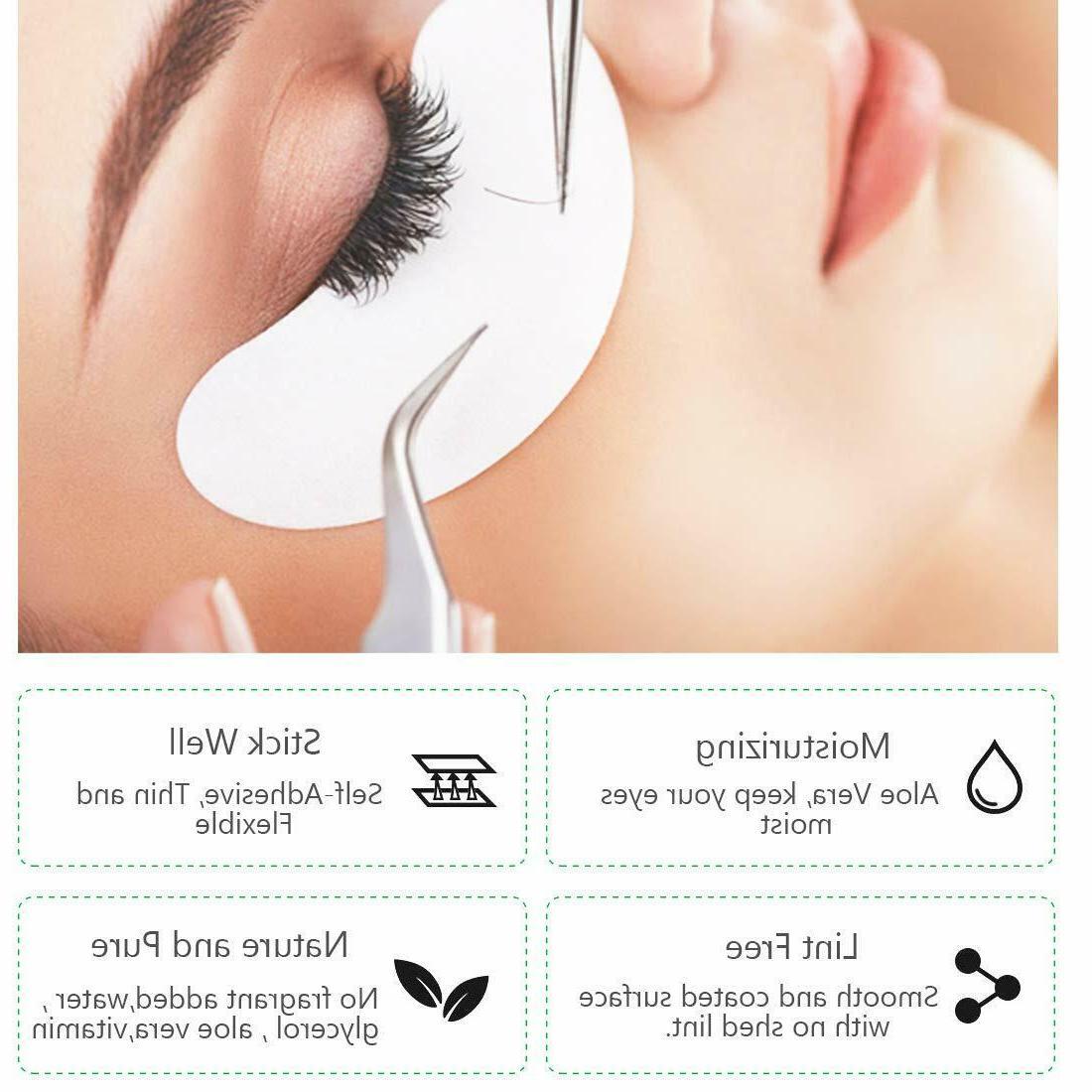 200 PCS Hydrogel Patch Eye Mask Moisture Eyelashes Spot