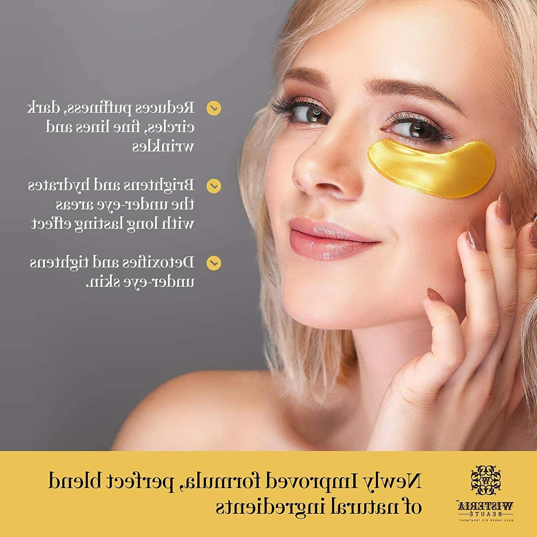 24k Gold Anti-Aging Eye Masks, Patches/Under Eye for Puffy Eyes
