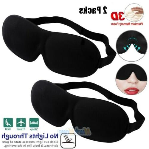 2x 3d eye mask sleep soft padded