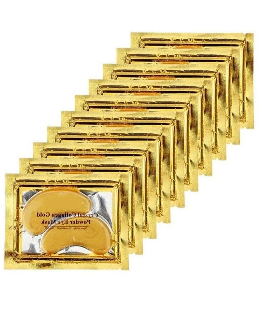 10 PAIRS Gold Collagen EYE Patch Gel Mask Anti Aging Wrinkle