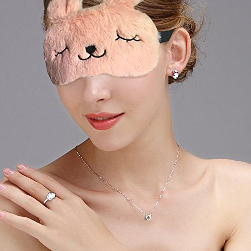 3D Cute Sleeping Rabbit Eye Mask with Reusable Gel Pad, Cold