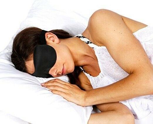 3D Blackout Sleep Eye Mask Plugs and