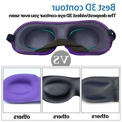 3D Eye mask Sleeping,Machine for Women, +Purple
