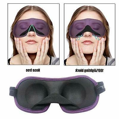 3D Eye mask for Sleeping,Machine Washable, Sleep for Black