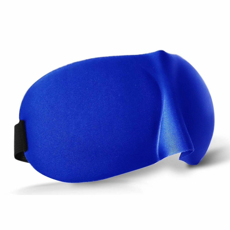 Soft Padded Blindfold Travel Sleeping Cover Blue