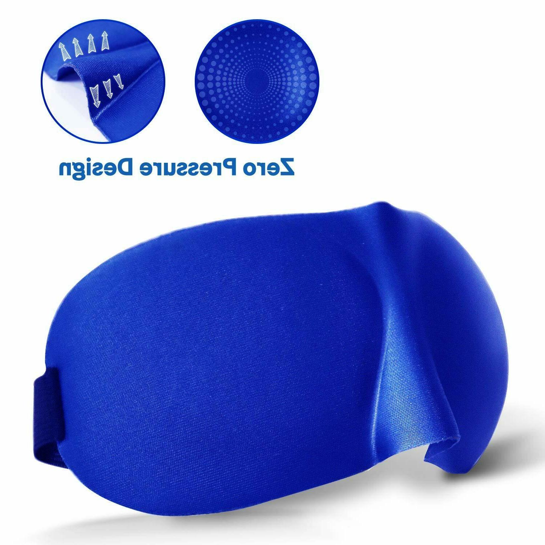 3D Eye Mask Soft Blindfold Sleeping Aid Shade Blue