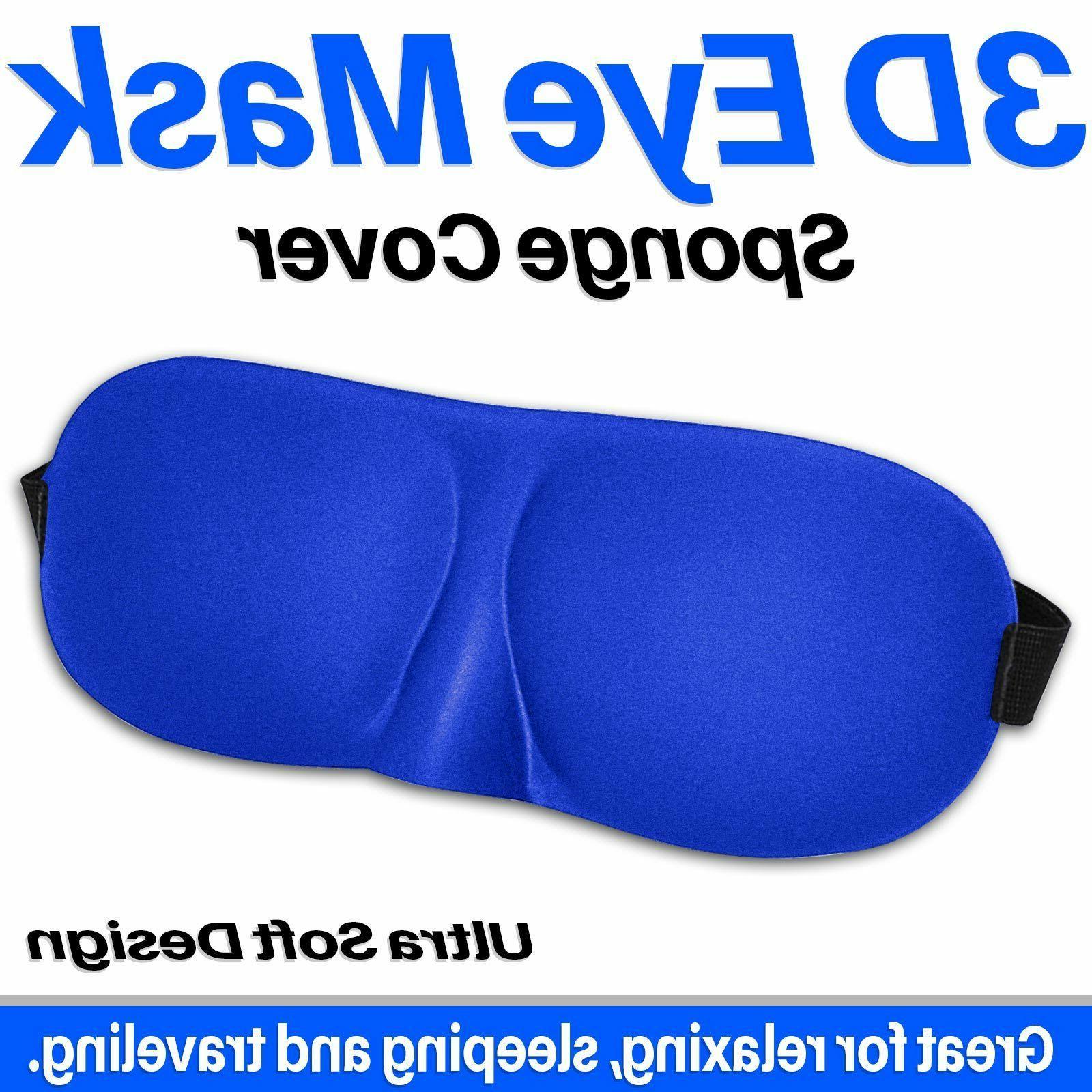 3d eye mask unisex soft padded blindfold