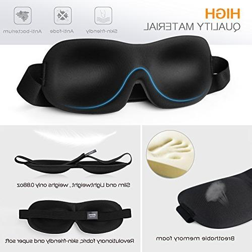 MOSPRO Mask Gift Men with Free Plugs, Comfortable Lightweight Sleeping Mask Travel, Nap, Shift