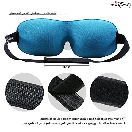 PrettyCare Sleep Mask Contoured with Silk Bag Travel - Best Eyeshade Men