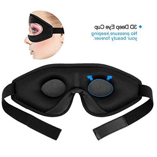 Snapsmile Sleep Mask, Blindfold Eyeshade Mask for for Men Premium with One Set Earplug-Black