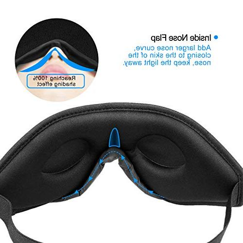 Snapsmile Sleep Mask, Blindfold Eye Mask Men Premium with One Set Earplug-Black