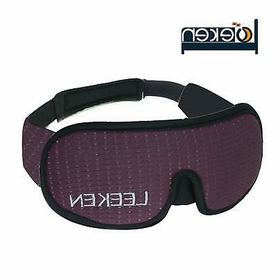 LEEKEN 3D Sleeping Eye Mask - 100% Blockout Mask,