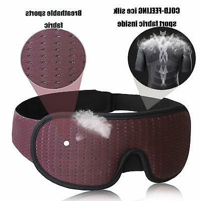LEEKEN 3D Sleeping Mask - 100% Blockout Sleep Mask,