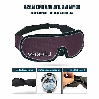 LEEKEN 3D Eye Mask - 100% Lights Blockout Mask,