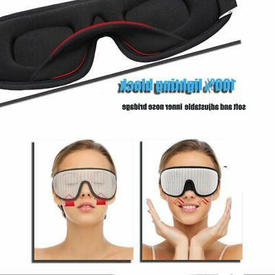 LEEKEN 3D Sleeping Mask - Lights Blockout