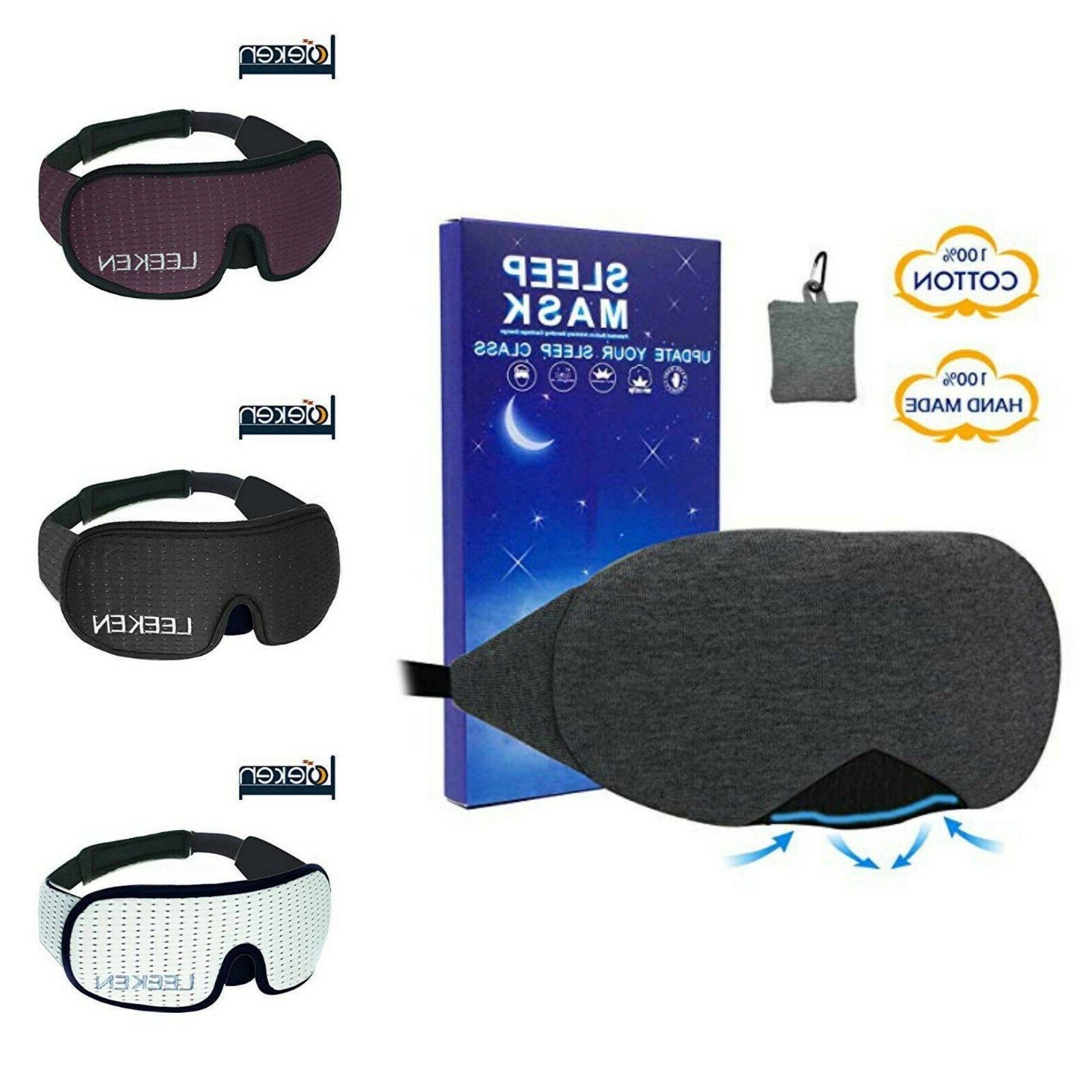 3D Sleeping Eye Mask Travel Nap Night Sleep Eyes Cover Breat