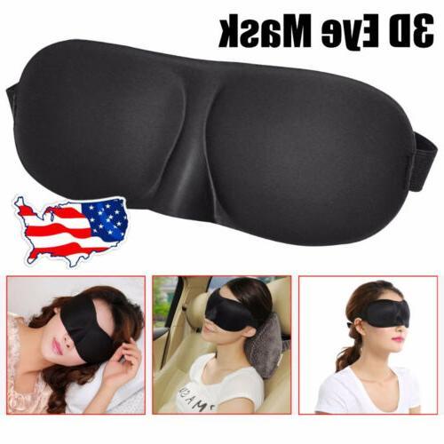 3d travel eye mask memory foam shade