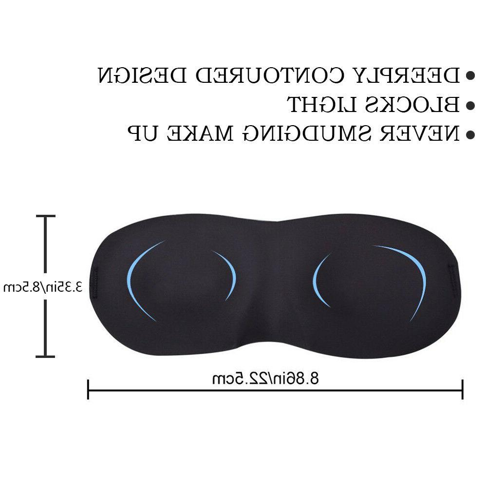 3D Travel Eye Shade Cover Eyepatch Blindfold Aid