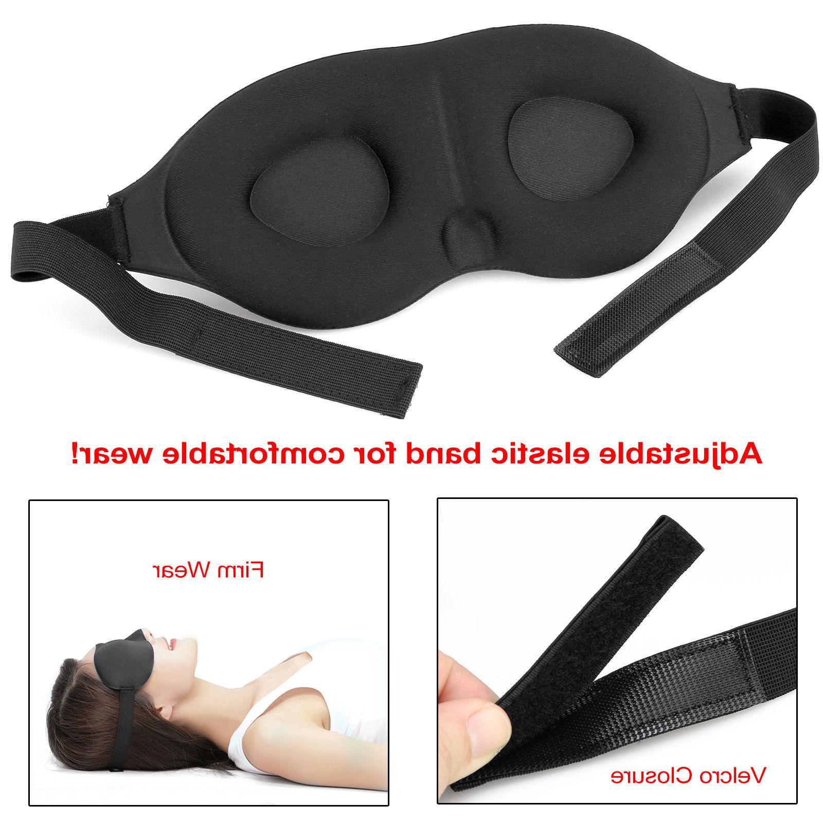 Travel Sleep Padded Cover Relax Sleeping Aid Blindfold hi
