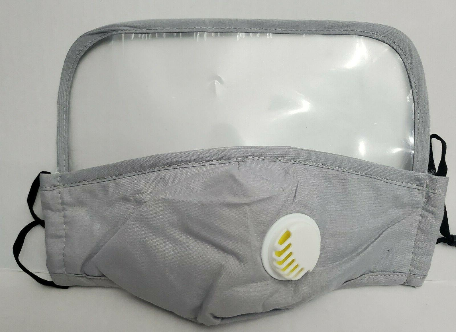 6 Pack, Protective Face Mask with Eyes