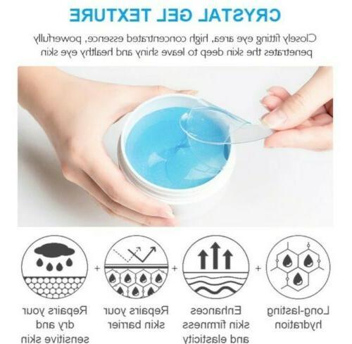 60Pcs Crystal Blue Hydrogel Eye Pads