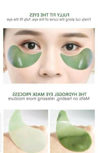60Pcs Green Hydrogel Eye Collagen Pads