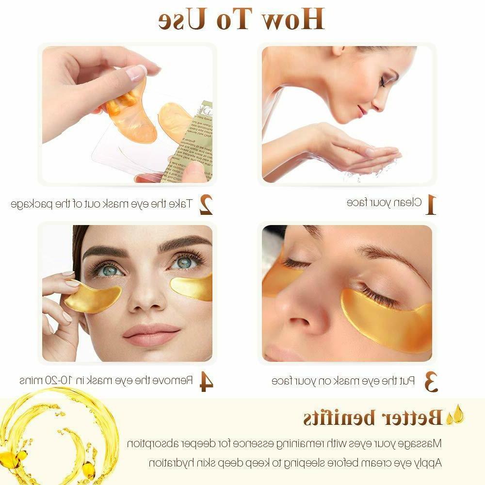 40pc 24K Gold Collagen Eye Mask Patch Gel Wrinkle Dark