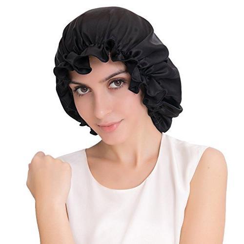 ALASKA BEAR - Natural Silk Sleep Night Cap Head Cover Bonnet
