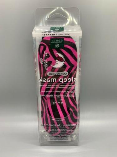 Earth Therapeutics - Contoured Sleep Mask Zebra Pink