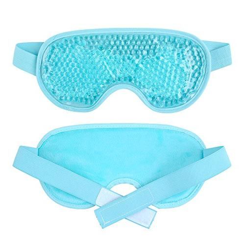 Eye Mask Gel Beads Eye Mask for Cold Pain Eye Puffy Eyes, Headache Sinus Pain