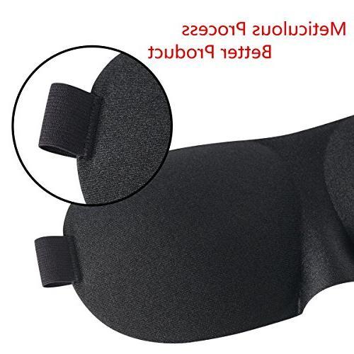 Eye 2 Pack, Mask with Adjustable Contoured Shape Eyeshade Women, Soft for Travel,