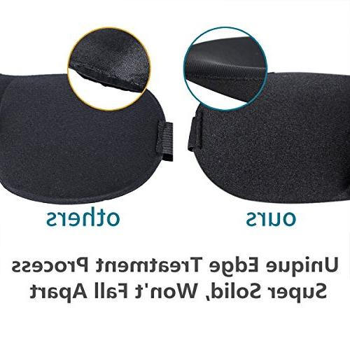 Eye Mask for with Adjustable Strap 3D Contoured Good Night Eyeshade for Men, Soft &