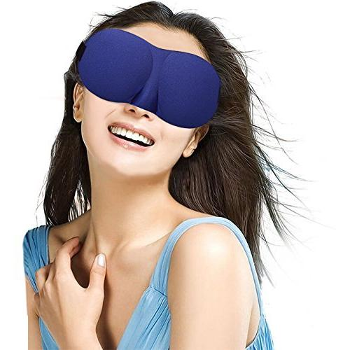 Eye Mask for 2 with Adjustable Contoured Eyeshade Women, Soft for Travel, Shift &