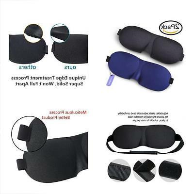 Eye Mask for Sleeping 2 Pack, Sleep Mask with Adjustable Str