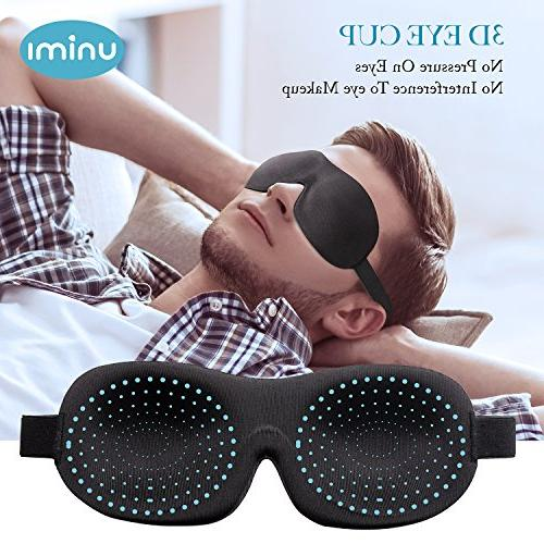 Eye Mask Unimi Sleep for Men Light, Comfort 3D Eye Cover, Pressure-Free Eye Shades for Shift Work, Blindfold