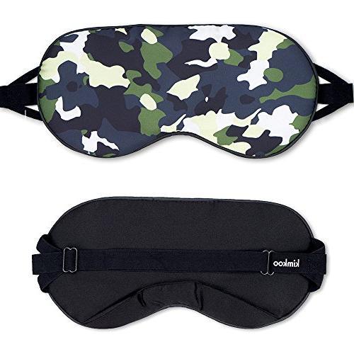 Kimkoo Silk Sleeping Mask Light with - Eye Mask Sleeping With Plugs,Night Eye Patch,Camouflage
